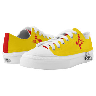 Dynamic New Mexico State Flag Graphic on a Low Tops