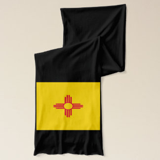 Dynamic New Mexico State Flag Graphic on a Scarf Wrap