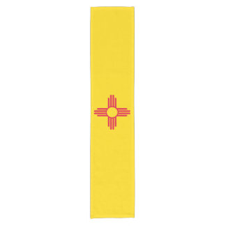 Dynamic New Mexico State Flag Graphic on a Short Table Runner