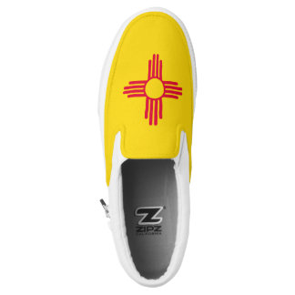 Dynamic New Mexico State Flag Graphic on a Slip On Shoes