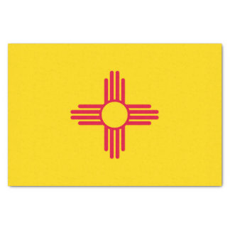 Dynamic New Mexico State Flag Graphic on a Tissue Paper