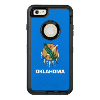 Dynamic Oklahoma State Flag Graphic on a OtterBox Defender iPhone Case
