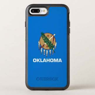 Dynamic Oklahoma State Flag Graphic on a OtterBox Symmetry iPhone 8 Plus/7 Plus Case