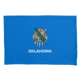 Dynamic Oklahoma State Flag Graphic on a Pillowcase