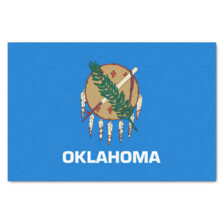 Dynamic Oklahoma State Flag Graphic on a Tissue Paper