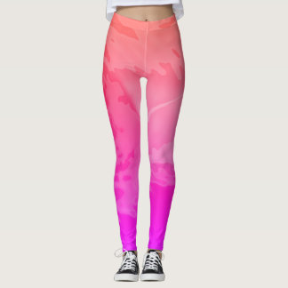 Dynamic Pink Abstract - Leggings