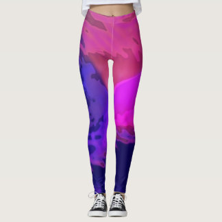 Dynamic Purple Abstract - Leggings