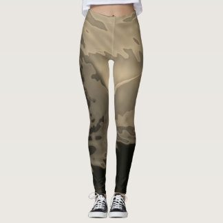 Dynamic Sepia Abstract - Leggings