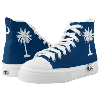 Dynamic South Carolina State Flag Graphic on a High Tops