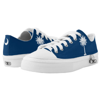 Dynamic South Carolina State Flag Graphic on a Low Tops