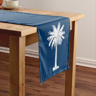 Dynamic South Carolina State Flag Graphic on a Short Table Runner