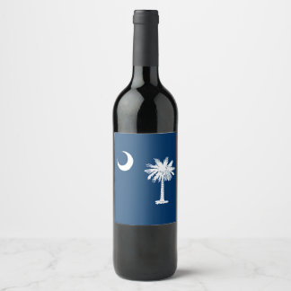 Dynamic South Carolina State Flag Graphic on a Wine Label