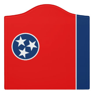 Dynamic Tennessee State Flag Graphic on a Door Sign