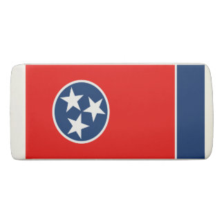 Dynamic Tennessee State Flag Graphic on a Eraser