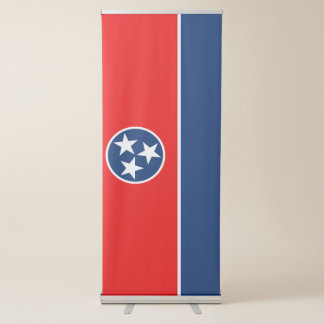 Dynamic Tennessee State Flag Graphic on a Retractable Banner