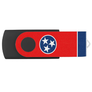 Dynamic Tennessee State Flag Graphic on a USB Flash Drive