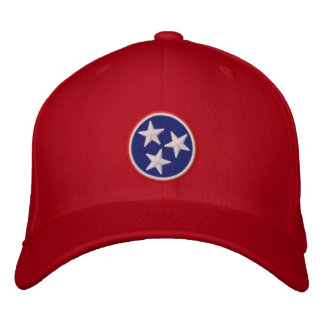 Dynamic Tennessee State Flag Graphic on Embroidered Hat