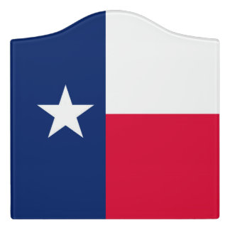Dynamic Texas State Flag Graphic on a Door Sign