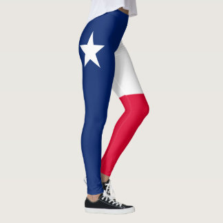 Dynamic Texas State Flag Graphic on a Leggings