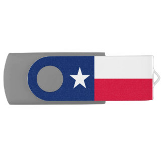 Dynamic Texas State Flag Graphic on a USB Flash Drive