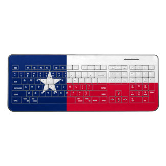Dynamic Texas State Flag Graphic on a Wireless Keyboard