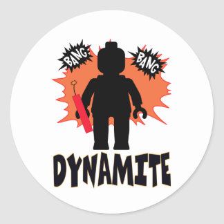 Dynamite Minifig by Customize My Minifig Sticker