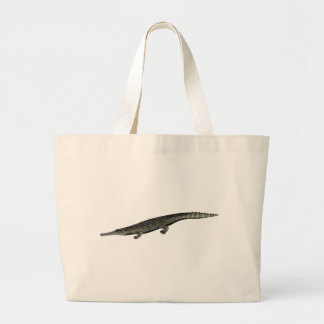 Dyrosaurus_BW Large Tote Bag