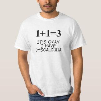 Dyscalculia Tshirts