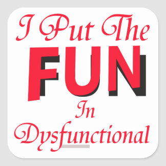 Dysfunctional Square Sticker