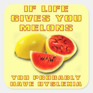 Dyslexia Melons Funny Sticker