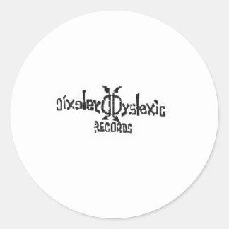 Dyslexic Records Round Sticker
