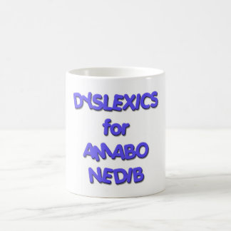 Dyslexics for Obama Biden - Amabo Nedib Classic White Coffee Mug