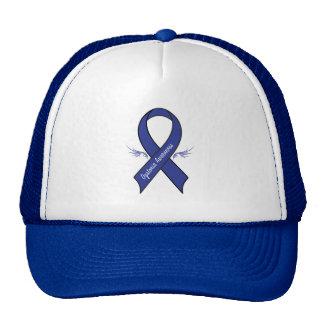 Dystonia Awareness Ribbon with Wings Cap