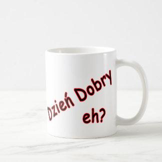 Dzien Dobry, eh? Angle Coffee Mug