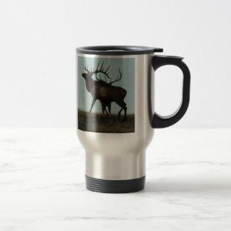 E0014 Bull Elk silhouette bulls Travel Mug