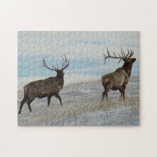 E0057 Bull Elk Lucky 13 Bull Jigsaw Puzzle