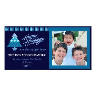 E2 Holiday Tree-Royal Xmas Photo Cards