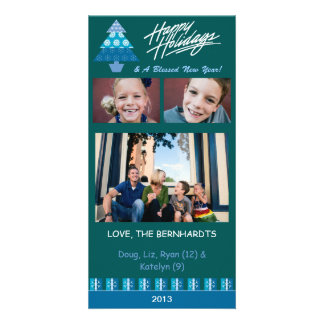 E3 Holiday Tree-Emerald Xmas Photo Cards