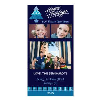 E3 Holiday Tree-Royal Xmas Photo Cards