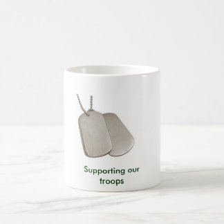 E9060b, Supporting our troops Basic White Mug