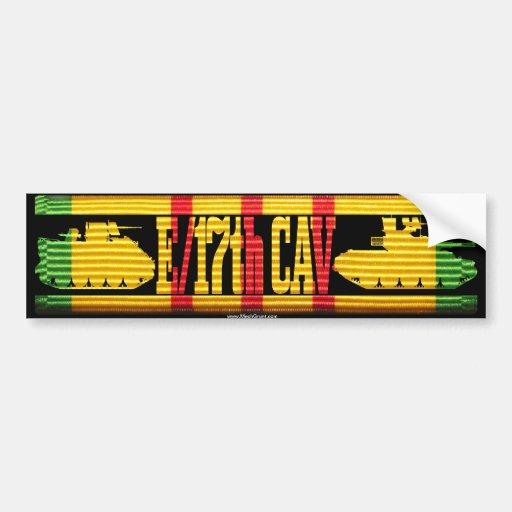 E/17th Cav Track & Tank Bumper Sticker