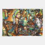 E Bent Psychedelic Art Kitchen Towel