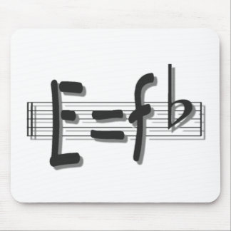 e eq F flat FOR UPLOADwhitewith shadow PNG Mouse Pad