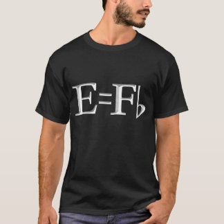 e=f flat  on dark T-Shirt