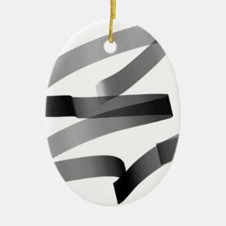 E graffiti ceramic ornament