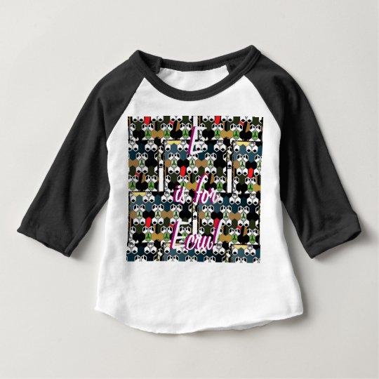 E is for Ecru Raglan T-shirt