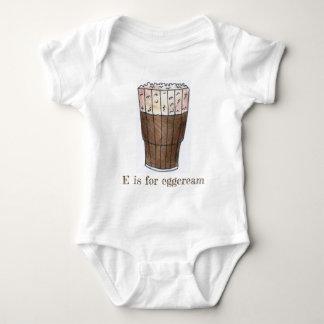 E is for Eggcream Classic NYC Chocolate Egg Cream Baby Bodysuit