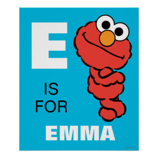 E is for Elmo   Add Your Name Poster