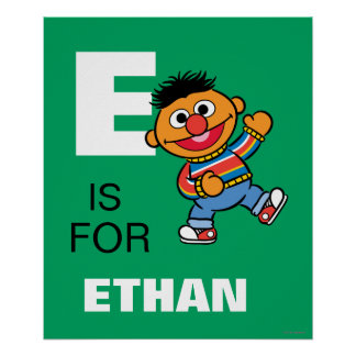 E is for Ernie Poster