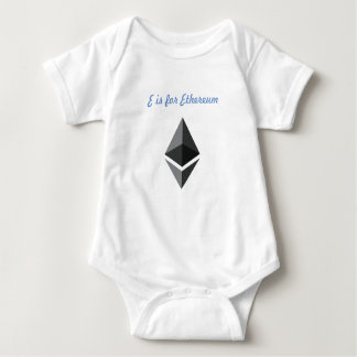 E is for Ethereum One-Piece Baby Bodysuit